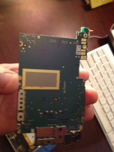 iphone 3gs mother board is green.  the 3g was blue if i recall